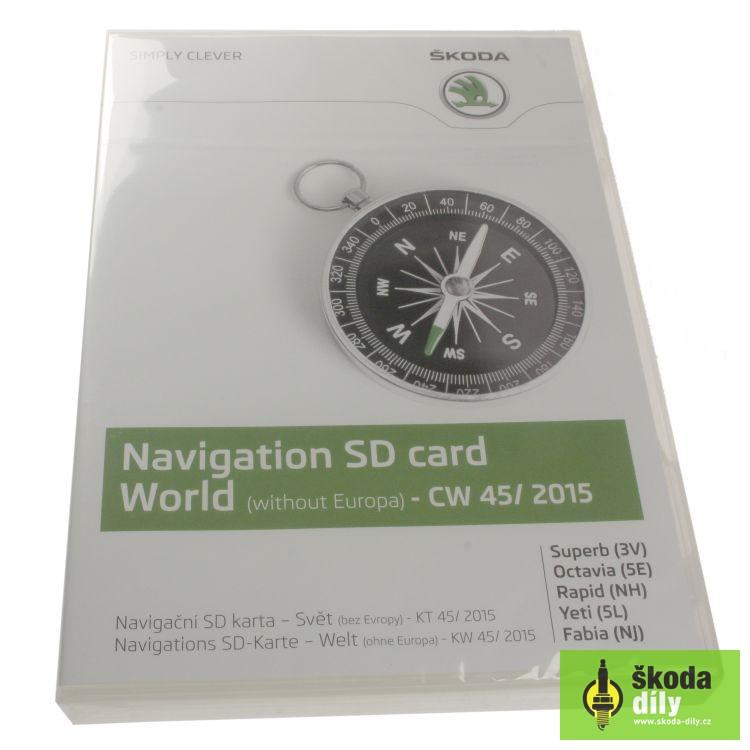 Navigacni Sd Karta Svet Skoda 5l0051236b